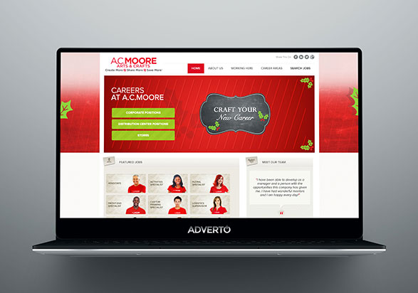 A.C Moore Career Site by Adverto
