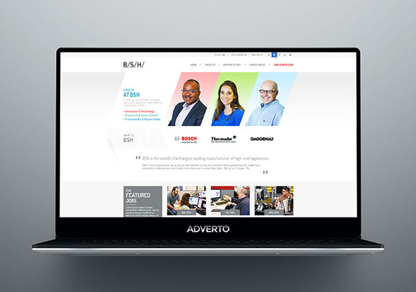 BSH Career Site by Adverto