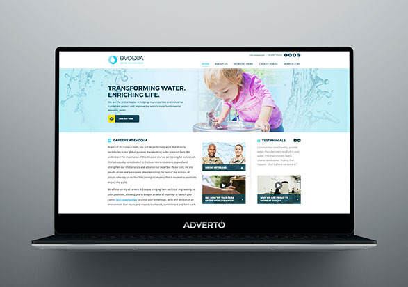 Evoqua Career Site by Adverto