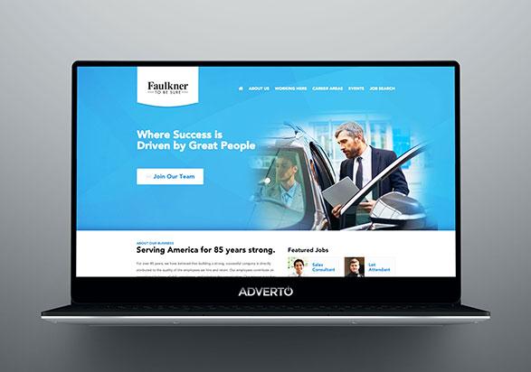 Faulkner Career Site by Adverto