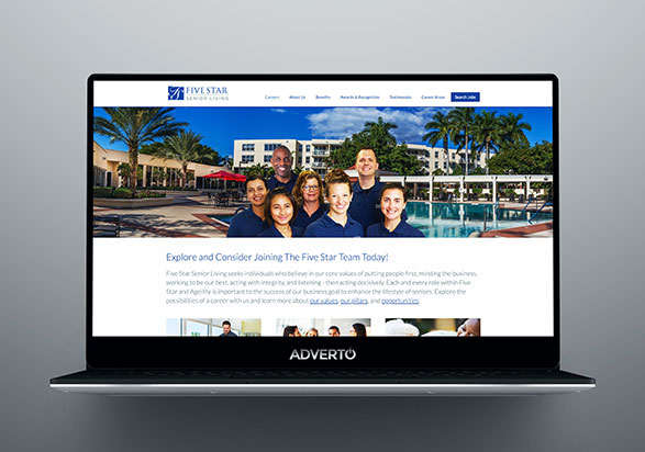 Five Star Senior Living Career Site by Adverto