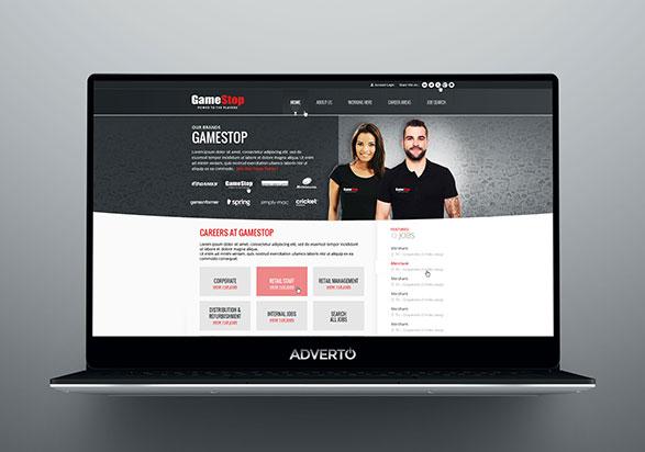 Gamestop Career Site by Adverto