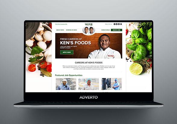 Kens Foods Career Site by Adverto