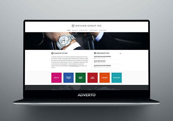 Movado Group Career Site by Adverto