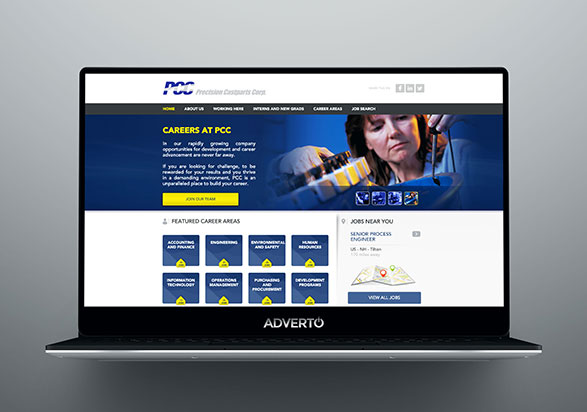 PCC Career Site by Adverto