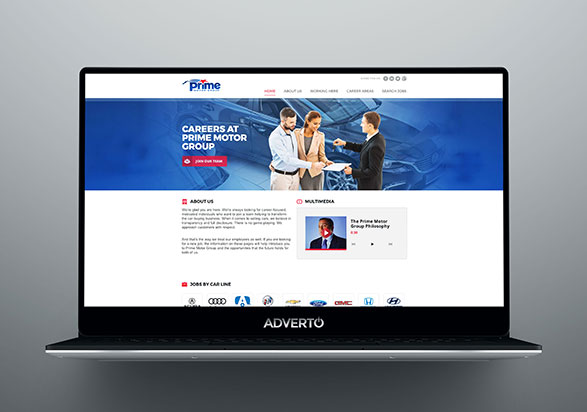 Prime Motor Group Career Site by Adverto