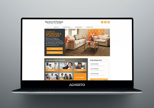 Raymour & Flanigan Career Site by Adverto