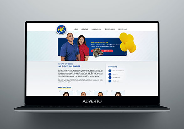 Rent-A-Center Career Site by Adverto