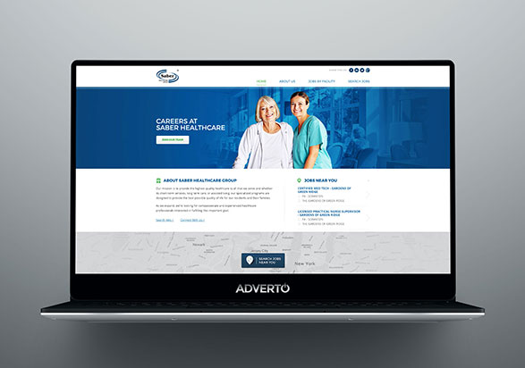 Saber Healthcare Group Career Site by Adverto