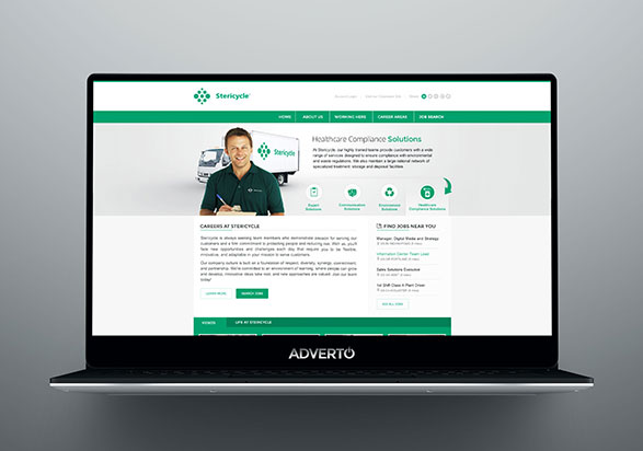 Stericycle Career Site by Adverto