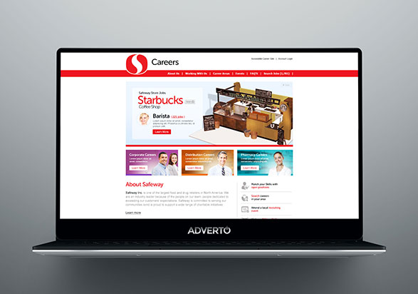 Safeway Career Site by Adverto