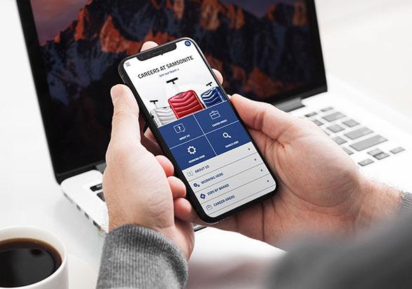 Samsonite Mobile Career Site by Adverto