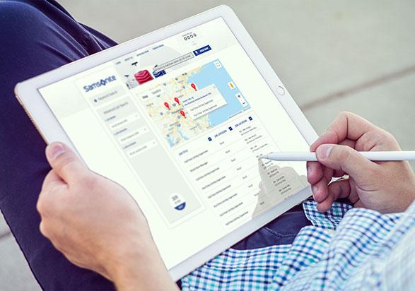 Samsonite Tablet Career Site by Adverto