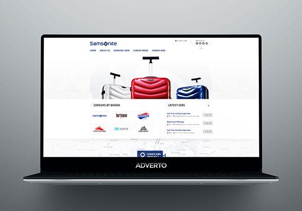 Samsonite Career Site by Adverto