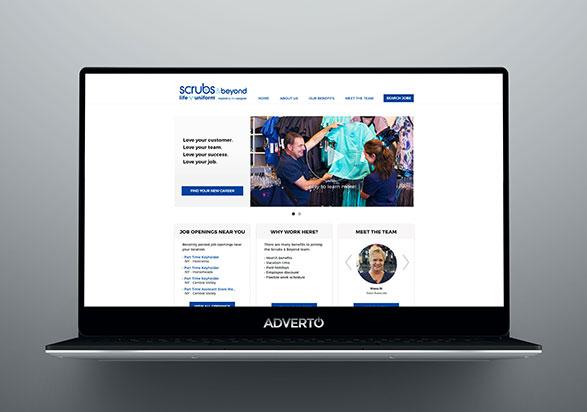 Scrubs & Beyond Career Site by Adverto
