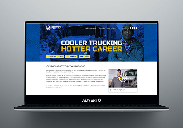 Swift Transportation Career Site by Adverto