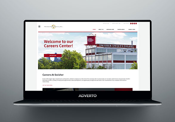 Swisher Career Site by Adverto